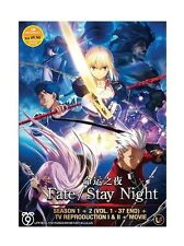 DVD Fate Stay Night Sea 1 + 2 + TV Reproduction I & II + Movie + Free Shipping