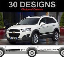 chevrolet captiva side stripes decals stickers graphic side stripe