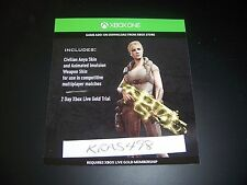 GEARS OF WAR Civilian Anya Skin and Animated Weapon Skin DLC Code Xbox One 1