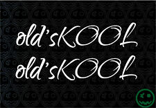 OLD'SKOOL OLD SCHOOL SCRIPT 2Pack 170mmW Stickers Car Truck DUB Skate Kombi o)