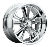 "CPP Foose F097 Knuckle Wheels Rims, 18x8 front + 18x9.5 rear, 5x4.75"", CHROME"