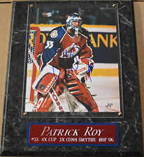 PATRICK ROY CANADIANS AVALANCHE AUTOGRAPHED SIGNED FRAMED 8 X 10 PHOTO COA