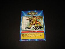 BANDAI DIGIMON TACO BELL TIP CARD 1 SABERLEOMON (C) -FREE COMBINED SHIPPING