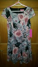Betsey Johnson NWT Women's Size 10 fit & flare dress lined #FG04K05Y $158