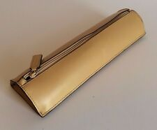 Excellent Tan Levenger Heavy Soft Leather Pen Pencil Desk Case Pouch Boivia