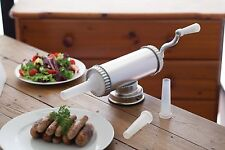 Sausage Maker Hand Operated Heavy Duty Manual Kitchen 3 Nozzles 15/19/22mm