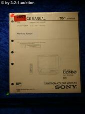 Sony Service Manual KV V2110K /P VHS Video Combo Color TV (#2869)