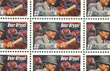 1997 FOOTBALL COACH BEAR BRYANT - #3148 Full Mint Sheet of 20 Postage Stamps