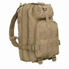 CONDOR MOLLE Modular Tactical Nylon Compact Assault Pack Backpack 126-003 TAN