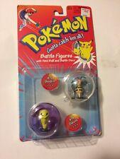 1998 Pokemon Beedrill Kakuna Battle Figures w/ Poke Ball and Discs MOC Hasbro