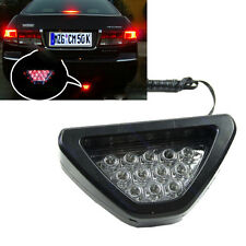 Universal F1 Style Triangle 12-LED Rear Stop Tail 3rd Brake Strobe Light  RED