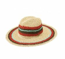 2016 NWT WOMENS VOLCOM RAYA STRAW HAT $35 XS/S natural striped woven pattern