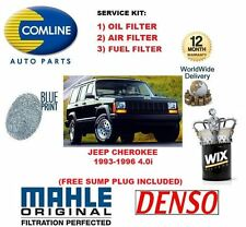 FOR JEEP CHEROKE 4.0 SUV 3/1993-12/1996 SERVICE KIT OIL AIR FUEL (3) FILTER SET