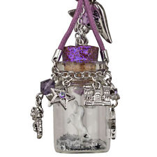 KIRKS FOLLY MERLIN'S WIZARD UNICORN CLOUDWALKER IN A BOTTLE NECKLACE SILVERTONE