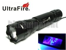 Ultrafire WF-501B G60 UV 5w Ultraviolet 365nm LED Flashlight Torch