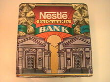 Vintage Nestle Hot Cocoa Mix Tin Still Advertising Bank