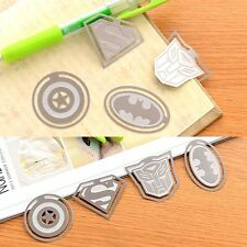 4pc Note Metal Bookmark Novelty Ducument Book Marker Label Stationery Kids Gift