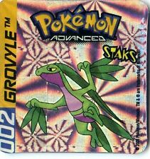 ≈Ω STAKS MAGNET POKEMON ADVANCED N° 002 GROVYLE HOLO