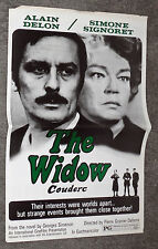 THE WIDOW COUDERC original 1971 movie pressbook ALAIN DELON/SIMONE SIGNORET