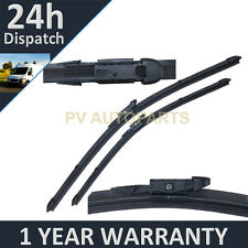 "FOR AUDI A3 CABRIOLET MK2 2008- DIRECT FIT FRONT AERO WIPER BLADES PAIR 24"" 18"""