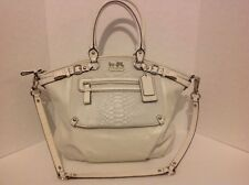COACH #19635 NWOT MADISON EMBOSSED EXOTIC POCKET LINDSEY SATCHEL HANDBAG/PURSE