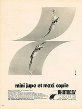 PUBLICITE ADVERTISING 064  1969  PHOTOGRAY   photocopieur