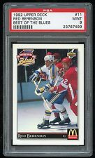 1992 Upper Deck Best of the Blues #11 Red Berenson PSA 9