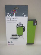 New Zeal Cafetiere Insulated Thermal Heat Wrap Jacket 8 Cup Lime Green C124