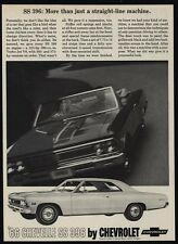 1966 CHEVROLET CHEVELLE SS 396 Convertible & Hardtop Sports Car VINTAGE AD