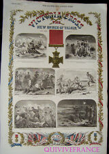 GRAVURE VICTORIA CROSS 1857 CRIMEE THE ILLUSTRATED LONDON NEWS