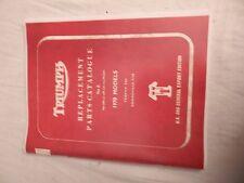 1970 TRIUMPH HOME MARKET PART BOOK MANUAL UK & EUROPE  MODELS T120 TR6 BONNEVILL