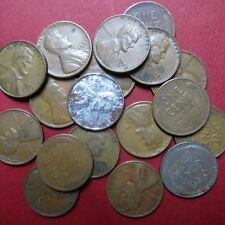 *CIRCULATED, Mixed LOT of 18 Vintage  LINCOLN WHEATCENTS, Coin Lot #4