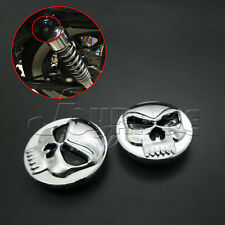 Skull Rear Shock Bolt Cover Kit For Harley Sportster 48 72 Iron XL 883 1200