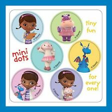 96 Doc McStuffins Dot Stickers (16 Sheets) Disney McStuffin Party Favors