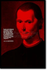 NICCOLO MACHIAVELLI ART PRINT PHOTO POSTER GIFT QUOTE ART OF WAR THE PRINCE