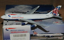 AEROCLASSICS / CRAFTSMAN 400 1/400 B747-400 BRITISH AIRWAYS WORLD CARGO N495MC