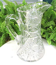 SPARKLING ABP AMERICAN BRILLIANT CUT GLASS PITCHER