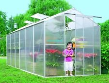 "NEW SUNCOZY ALUMINIUM POLYCARBONATE GARDEN GREENHOUSE 6""* 12"" FT"