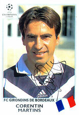 CORENTIN MARTINS IN FC GIRONDINS DE BORDEAUX KIT HANDSIGNED 12 x 8 COLOUR