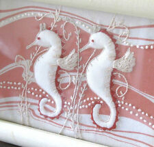 Trapunto, Americana Pictures, Cloth Stitch, Outsider, Pink, Fish, Fabric Art