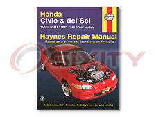 Honda Civic del Sol Haynes Repair Manual S Si VTEC Shop Service Garage Book jp