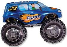 "30"" BALLOON blue TRUCK party FAVORS monster size BIG WHEEL new jam on VHTF !"