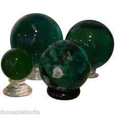 Sfera in Ossidiana Verde con Inclusioni di Calcite Mineral Stone Sphere D.5,5cm