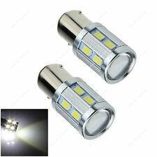 2pcs White 1157 BAY15D 12 5630 + 1 Cree LED Car Brake Light Instrument Lamp Bulb