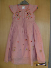 Girls Bnwot 'Next' Fully Lined Pale Pink Embroidered Dress 4-5 years Rrp £22