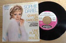 SP 45 tours Sophie Darel Jacques Dutronc Quand un garçon 1972 VG+