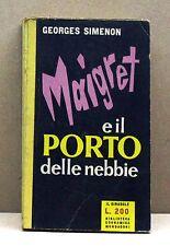 MAIGRET E IL PORTO DELLE NEBBIE - G.Simenon [libro, il girasole 85, mondadori]
