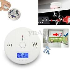 LCD CO Carbon Monoxide Poisoning Gas Smoke Sensor Alarm Warning Detector Tester
