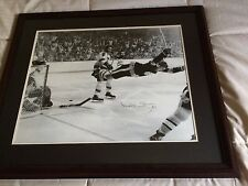 """THE GOAL"" BOBBY ORR SIGNED  COPY OF FAMOUS PHOTO SMARTLY FRAMED"