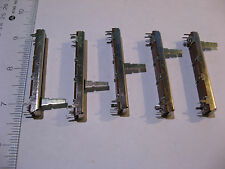 Lot of 5 Dual Slider Fader Potentiometer Alpha B100KX2 100K 1-3/4 in trvl - NOS